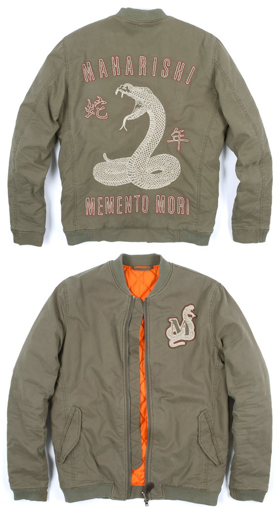 cce2d5632 Maharishi Year Of The Snake Fitted Ma-1 Jacket | StyleSpectator