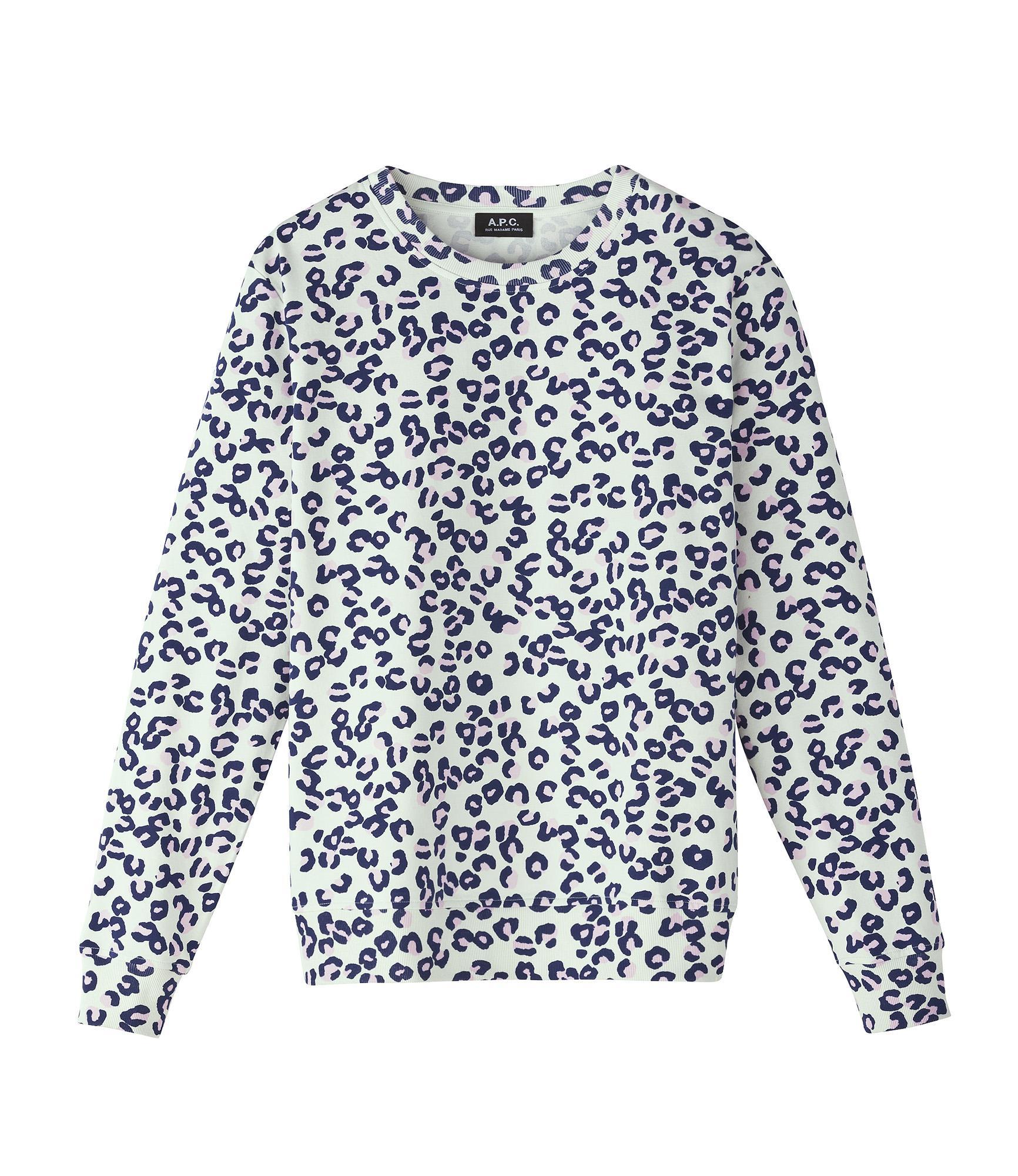 A.P.C Leopard Print Simple Sweatshirt